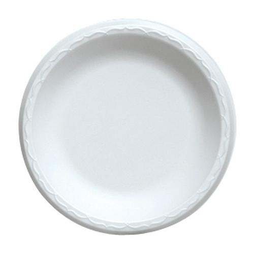 Genpak 80900 9 Inch Round White Foam Plate