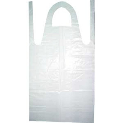 Ambitex P28642 Disposable Poly Apron 28 x 46 White