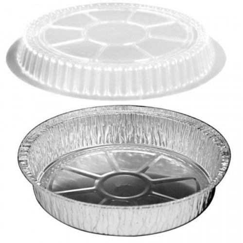 Western Plastic 9 Inch Round Foil Container W/ Dome Lid