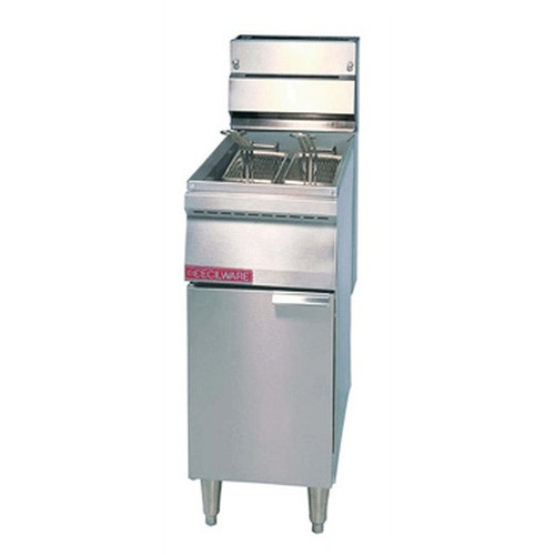 Cecilware FMP40BSS 40 lbs. Floor Model Gas Fryer
