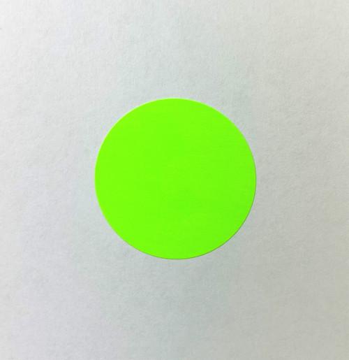 """Round Label Sticker 1.5"""" Diameter Green"""