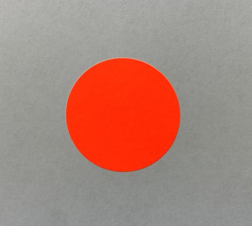 """Round Label Sticker 1.5"""" Diameter Orange"""