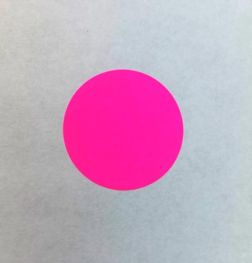 """Round Label Sticker 1.5"""" Diameter Pink"""