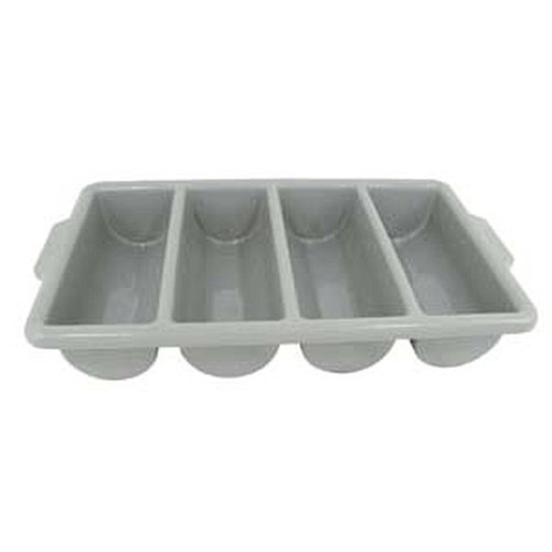UPDATE CUT-4PPN Four-Compartment Grey Plastic Cutlery Box
