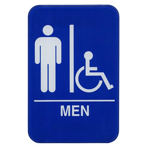 "UPDATE S69-9BL MAN Accessible Sign 6"" x 9"""