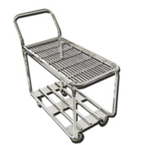 OMCAN 4700 Stainless Steel Retail Stock Cart 2 Tier