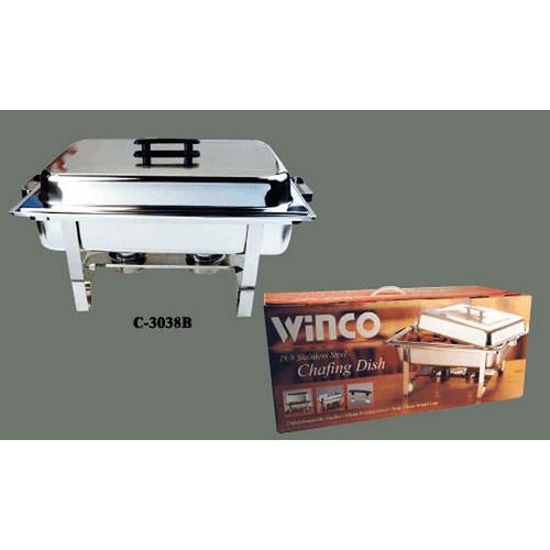 WINCO C-2080B Oblong 8 Quart Chafer