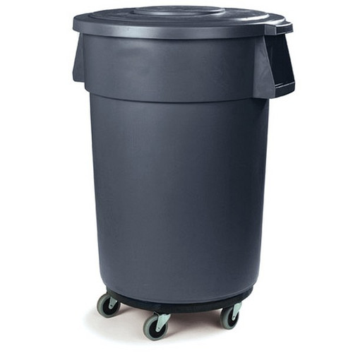 CARLISLE 341144 44 Gallon Garbage Container with Dolly