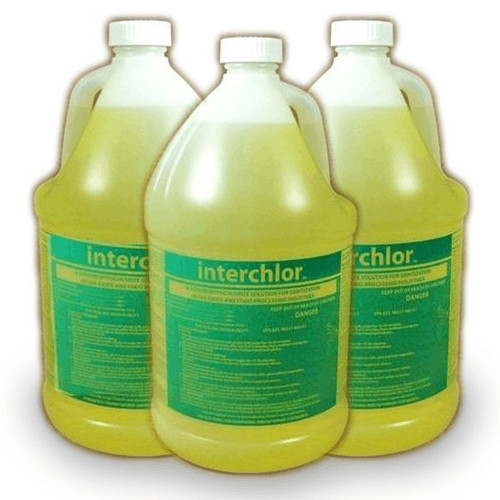 Intercon 205 Sodium Hypochlorite Sanitizer For Food Service 1 Gallon