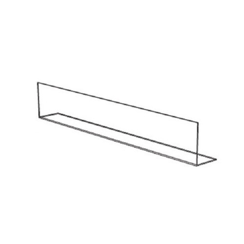 "48"" Clear Front Fence For Display Shelf"