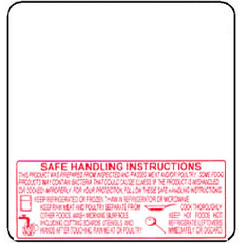 TORREY 1378-BSH 60mm Scale Label Safe Handling Printed