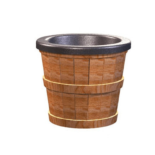 "Barrel Bowl with Insert 14"" x 10"" x 12"""