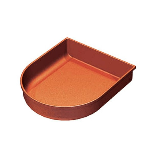 "Produce Tray Curved Front 12"" x 11"" x 2.5"""