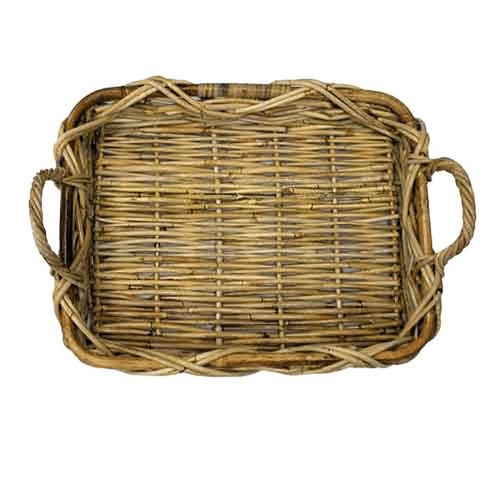 "14"" Rectangular Rattan Basket"