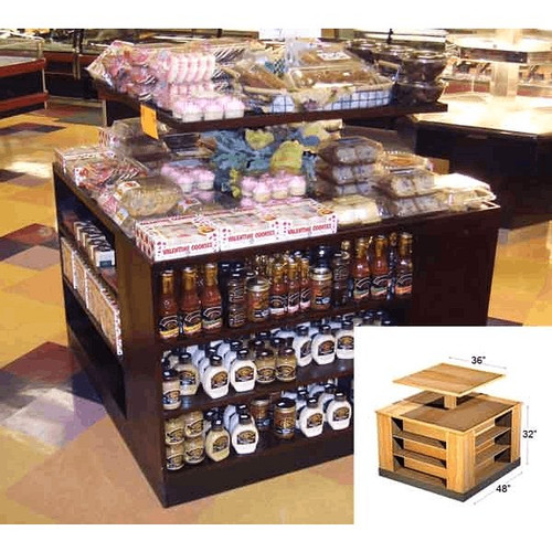 "48"" x 48"" x 32"" Wooden Bakery Display 2 Tiers"