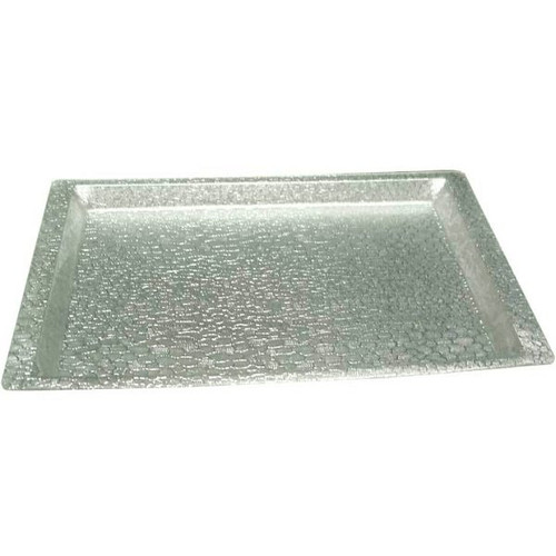 WINCO AST-1S Rectangular Silver Display Tray