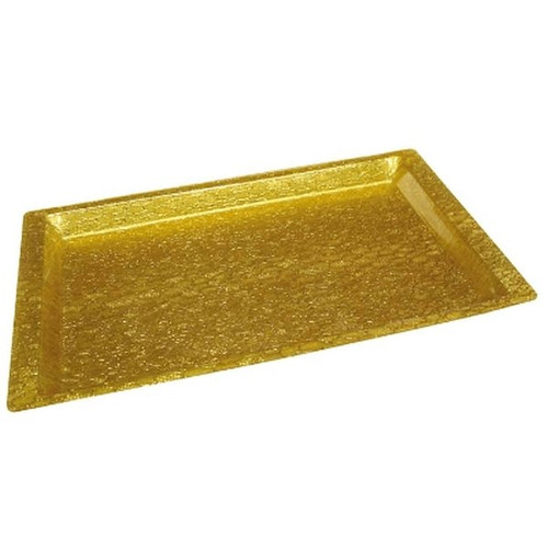 WINCO AST-2G Rectangular Gold Display Tray