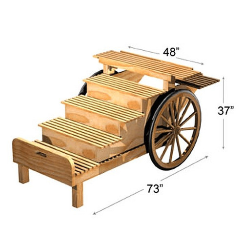 6 Step Wooden Cart Display