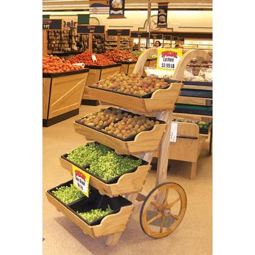 4 Tier Wooden Cart Display