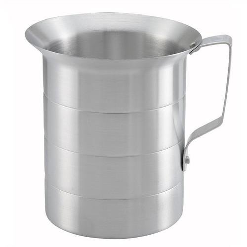 WINCO AM-4 4 Qt. Capacity Aluminum Measuring Cup