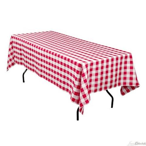 "WINCO TBCS-52R Red Table Cloth 52"" x 52"""