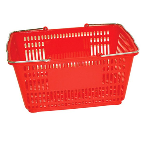 Large Shopping Basket Red