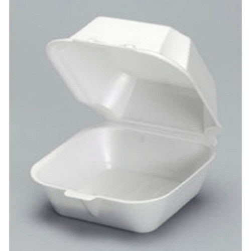 "Genpak 22500 6"" Sandwich Foam Container Large"