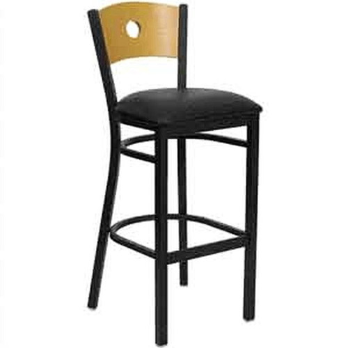 Flash Furniture Bar Stool Wood Back and Vinyl Seat