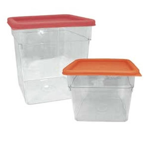 UPDATE SCQ-8PC Retail Deli Container 8 qt. Square