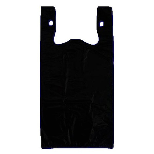 Jumbo Plastic Shopping Bag Black 20 X 10 X 36 30 Micron