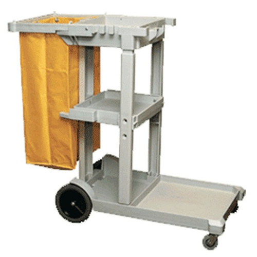 Janitorial Cart 3 Tier with Yellow Bag