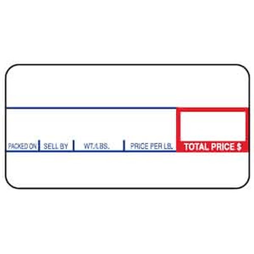 CAS LST-8000 58mm X 30mm Scale Label NON-UPC