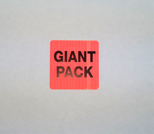 "2 X 2 Inch LABEL "" GIANT PACK"""