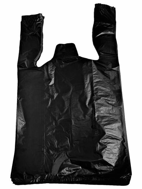 Black Plastic T-Shirt Shopping Bags