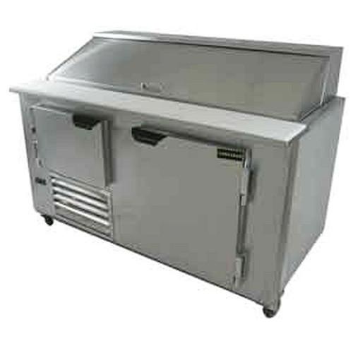 """Cooltech CMPH-60BM 2.5 Door Sandwich Prep Table 60"""""""