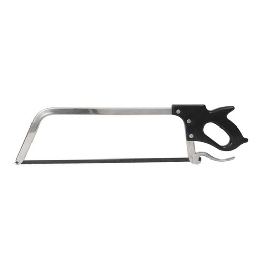 """Nickel Chrome Plated Meat Saw 25"""" with Black Plastic Handle"""
