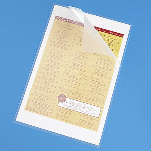 Clear Laminating Pouch - Menu Size