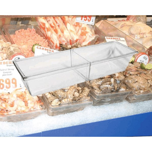 "Clear Acrylic Bin 9"" x 28"" x 4"" with Insert"