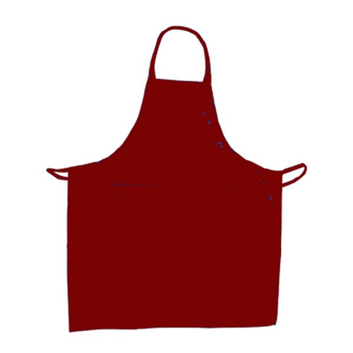 "UPDATE BAP-BU Cotton Apron 33"" x 28"" Burgundy"