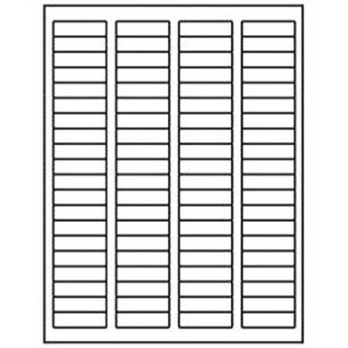 1.75 X 0.5 Inch White Blank Paper Permanent Label