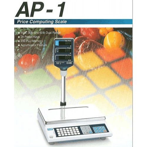 CAS AP-1 Computing Scale 60 Lbs Pole