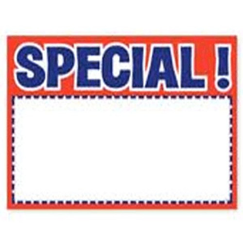 Price Card SPECIAL 3 X 5 RED 100