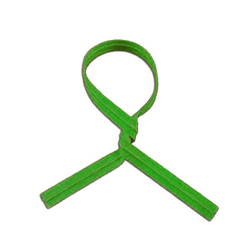 "Twist Tie 3/16 X 12"" Green Stripe"