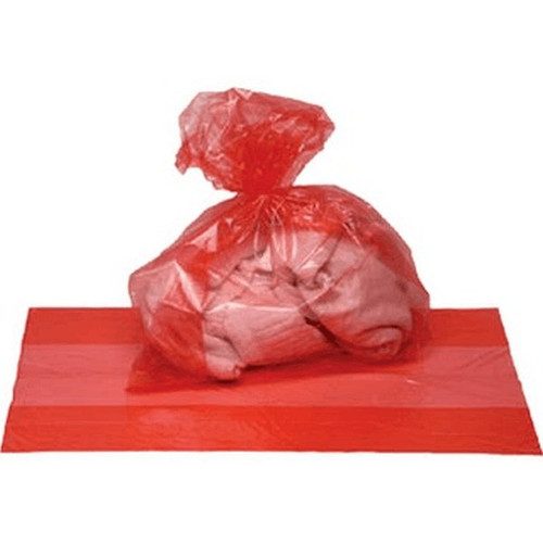 Poly Bag 11 X 19 Clear Red 1.5 MIL Safe Handling Printed
