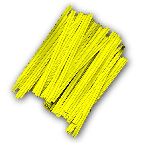 "Twist Tie 3/16 X 3.5"" Yellow"