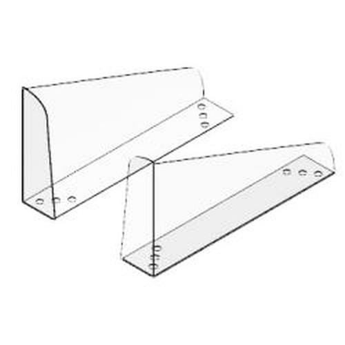 Gondola Shelf End Kit Divider 5 x 10 Clear Angle