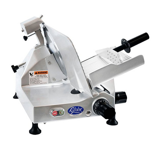 "Globe Chefmate C12 12"" Belt Driven Manual Slicer"