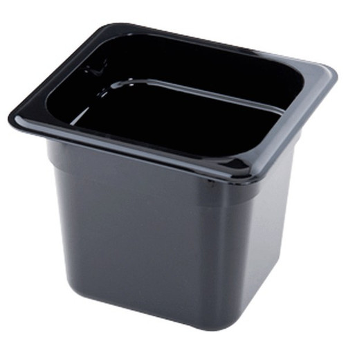 "CAMBRO 66CW-110 Black Food Pan 6"" Deep, Sixth Size"
