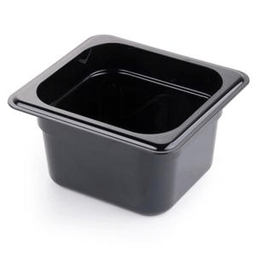 "CAMBRO 64CW-110 Black Food Pan 4"" Deep, Sixth Size"