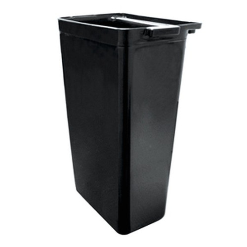 UPDATE RB-20BK Black Plastic Refuse Bin
